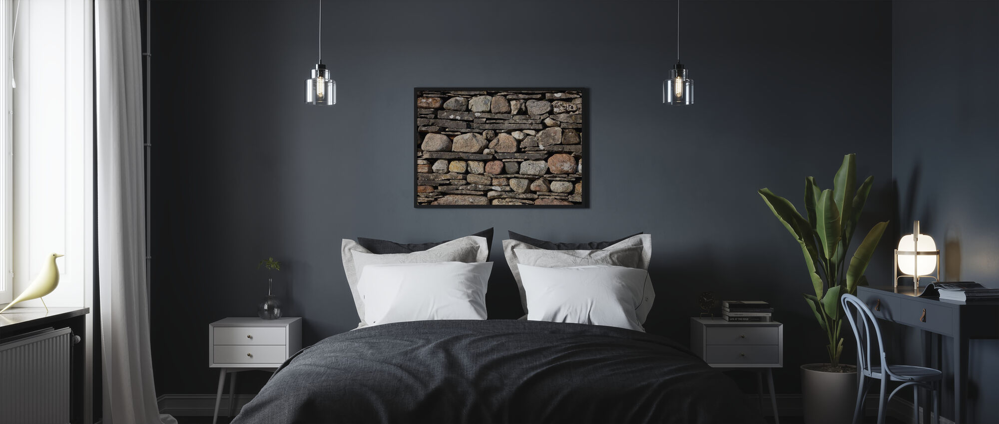 Stonewall with Slate - Poster - Bedroom