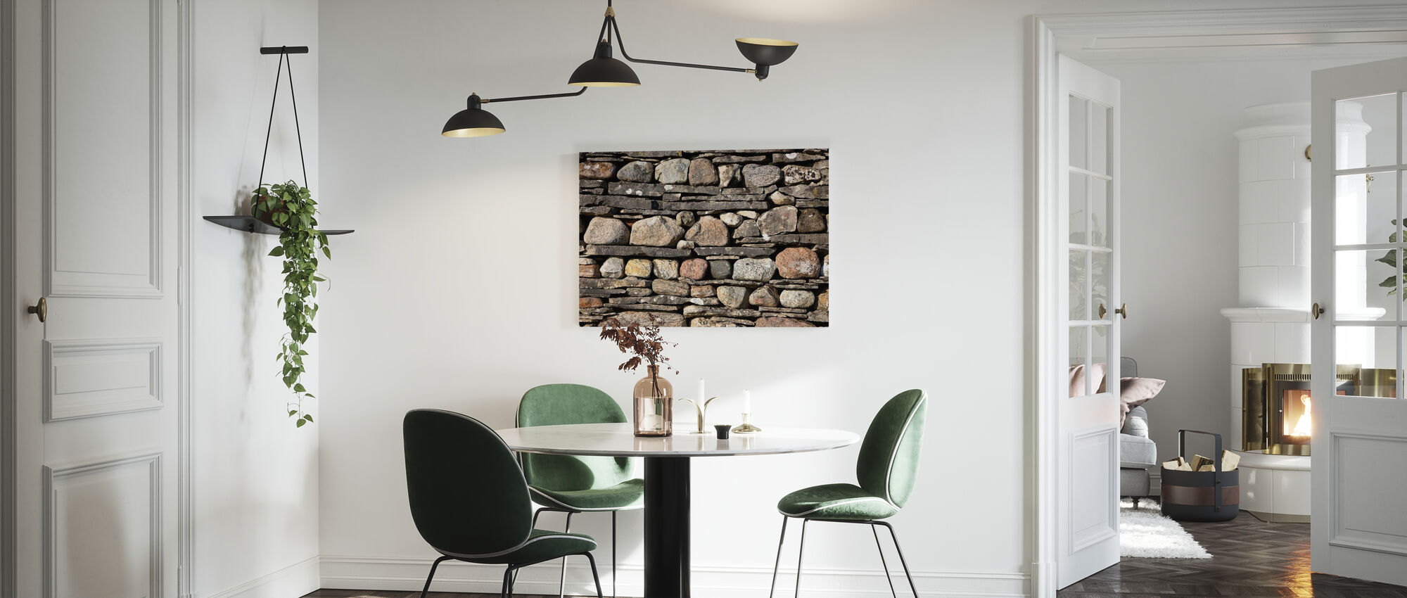 Stonewall with Slate - Canvas print - Kitchen