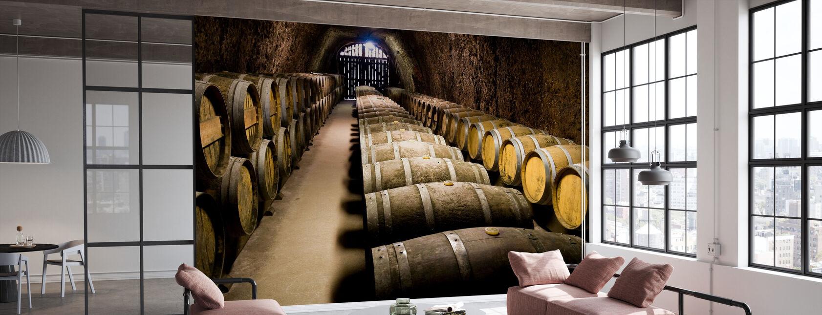 Barrels in Storage - Wallpaper - Office