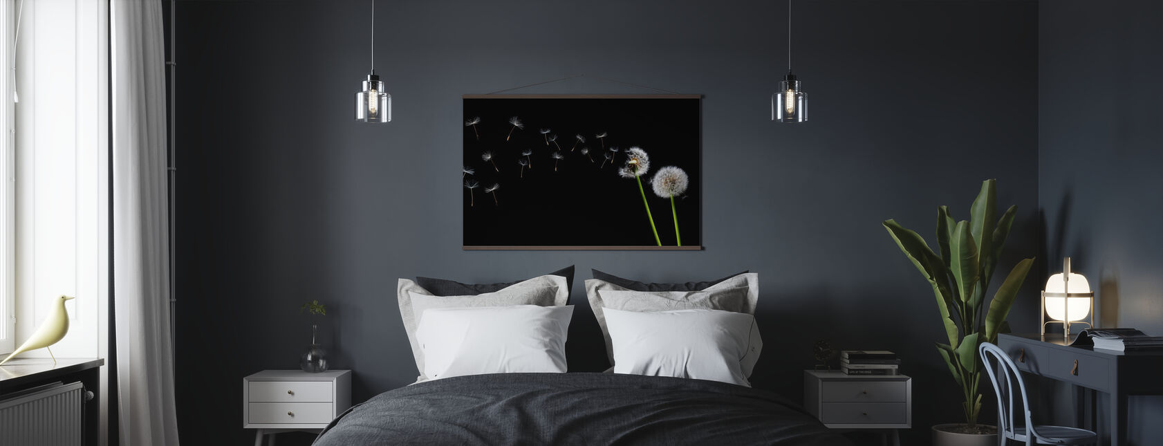 Dandelion Seeds in the Wind - Poster - Bedroom