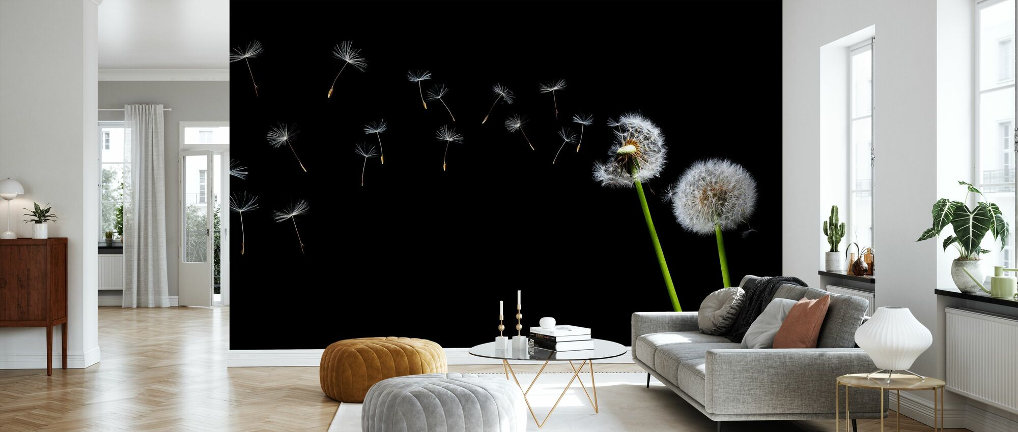 Dandelion Seeds in the Wind - Wallpaper - Living Room