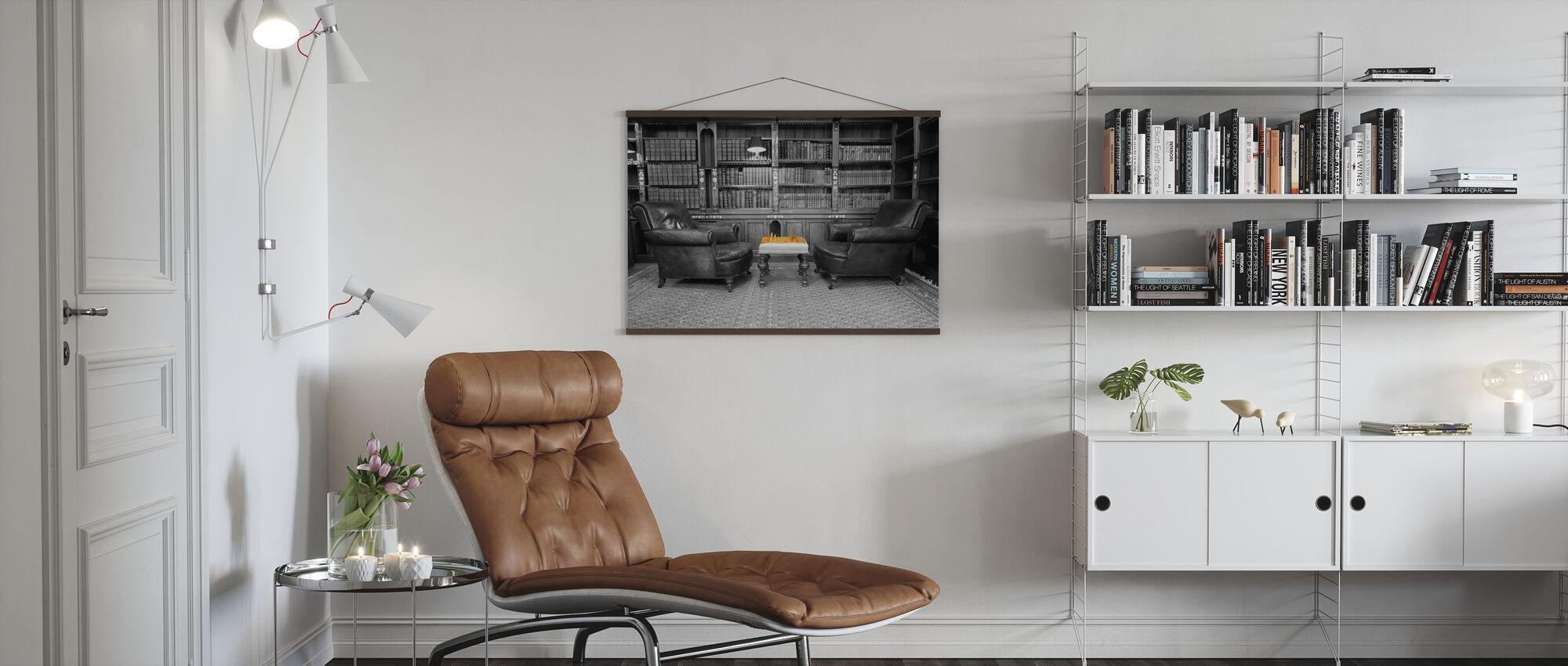 Alte Bibliothek - Poster - Wohnzimmer