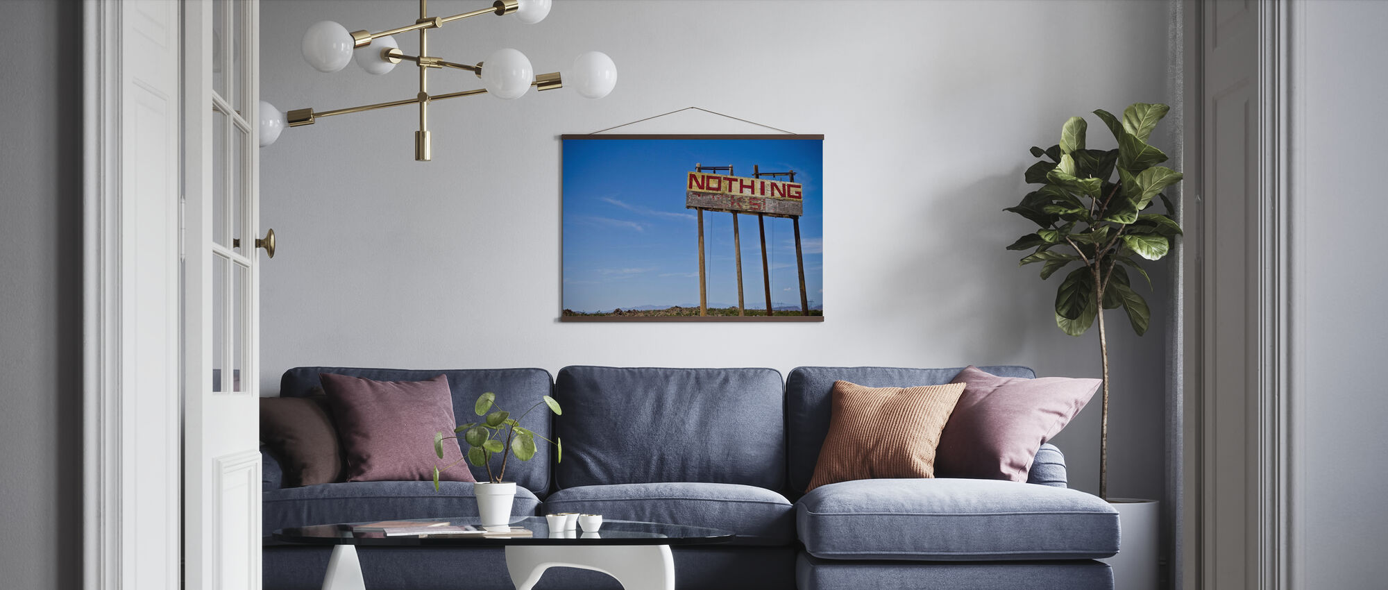 Road Sign - Nothing - Poster - Living Room