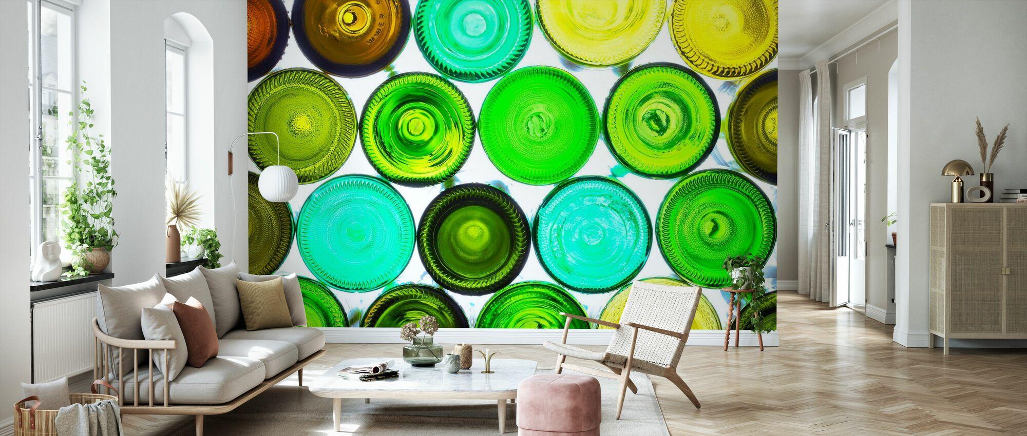 Colorful Bottle Bottoms - Wallpaper - Living Room