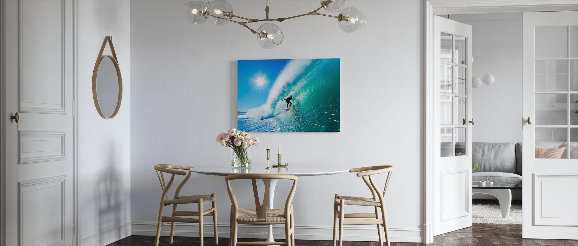 Surfing - Billede på lærred - Køkken