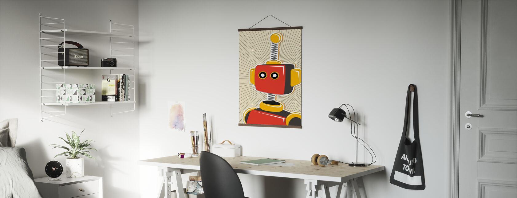 Retro Robot - Poster - Kantoor