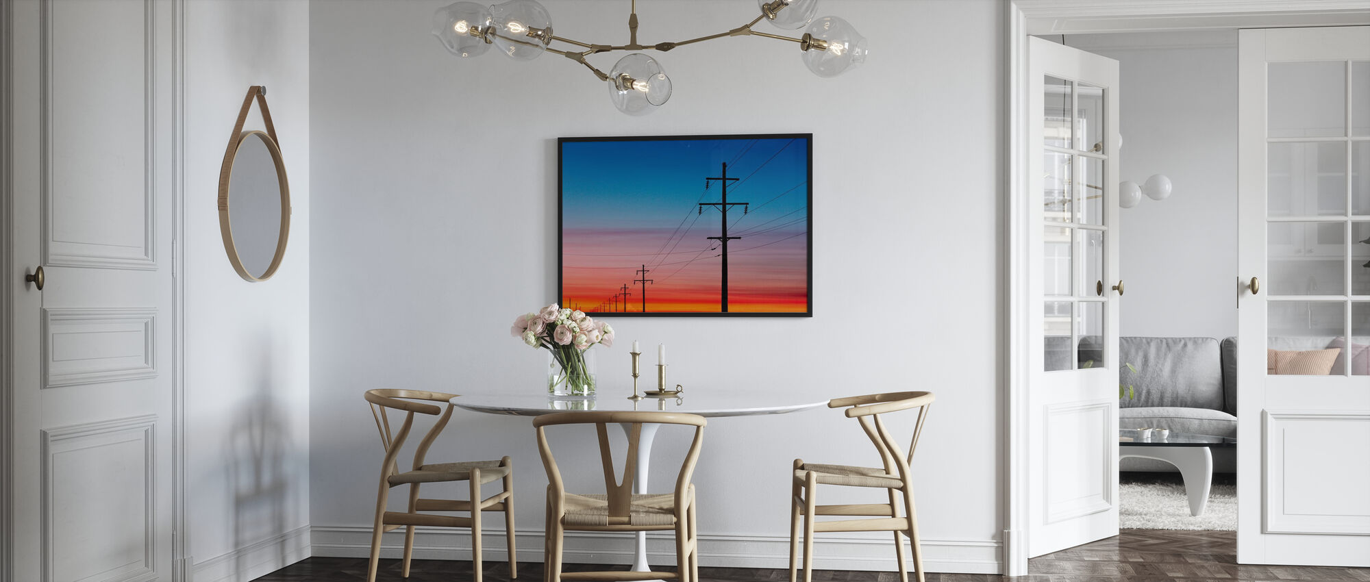 Power Lines at Sunset - Poster - Kitchen