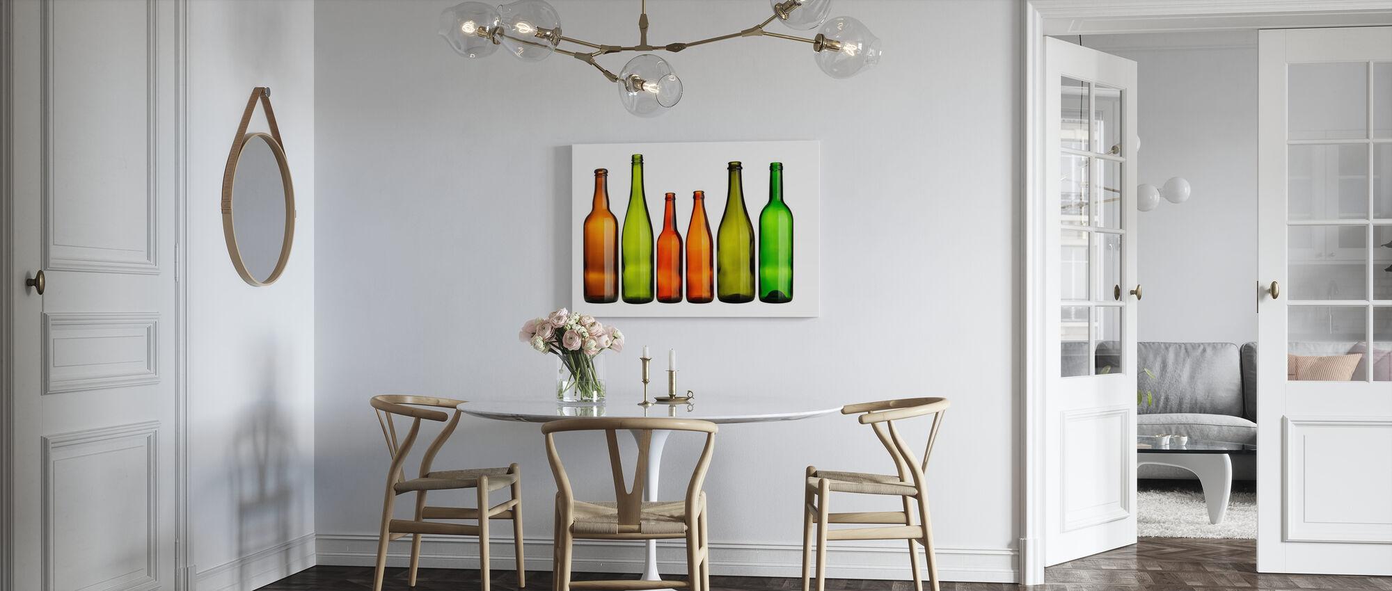 Colorful Bottles - Canvas print - Kitchen