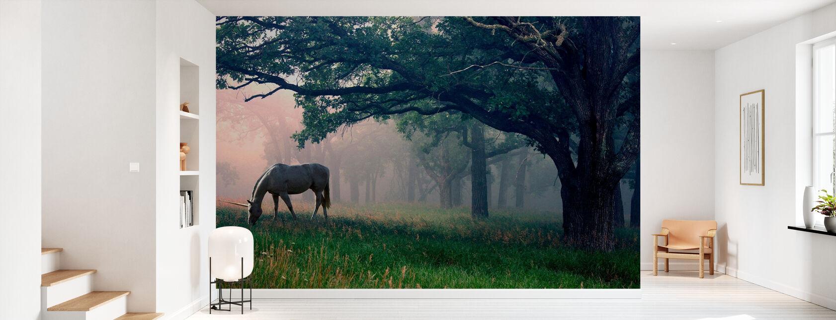 Licorne dans la forêt - Papier peint - Entrée