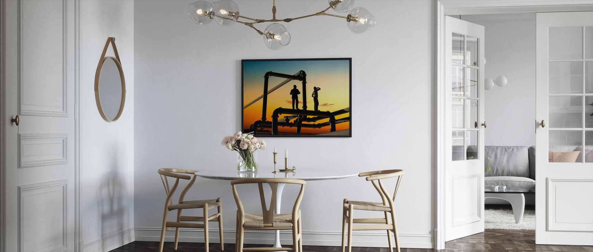 Öljytyöntekijät ja putket Sunset - Juliste - Keittiö
