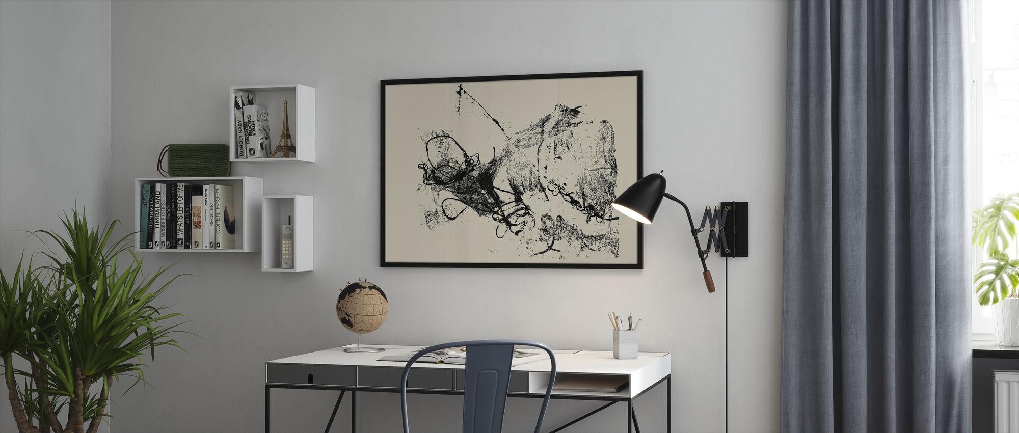 Ink Splash Background - Poster - Office