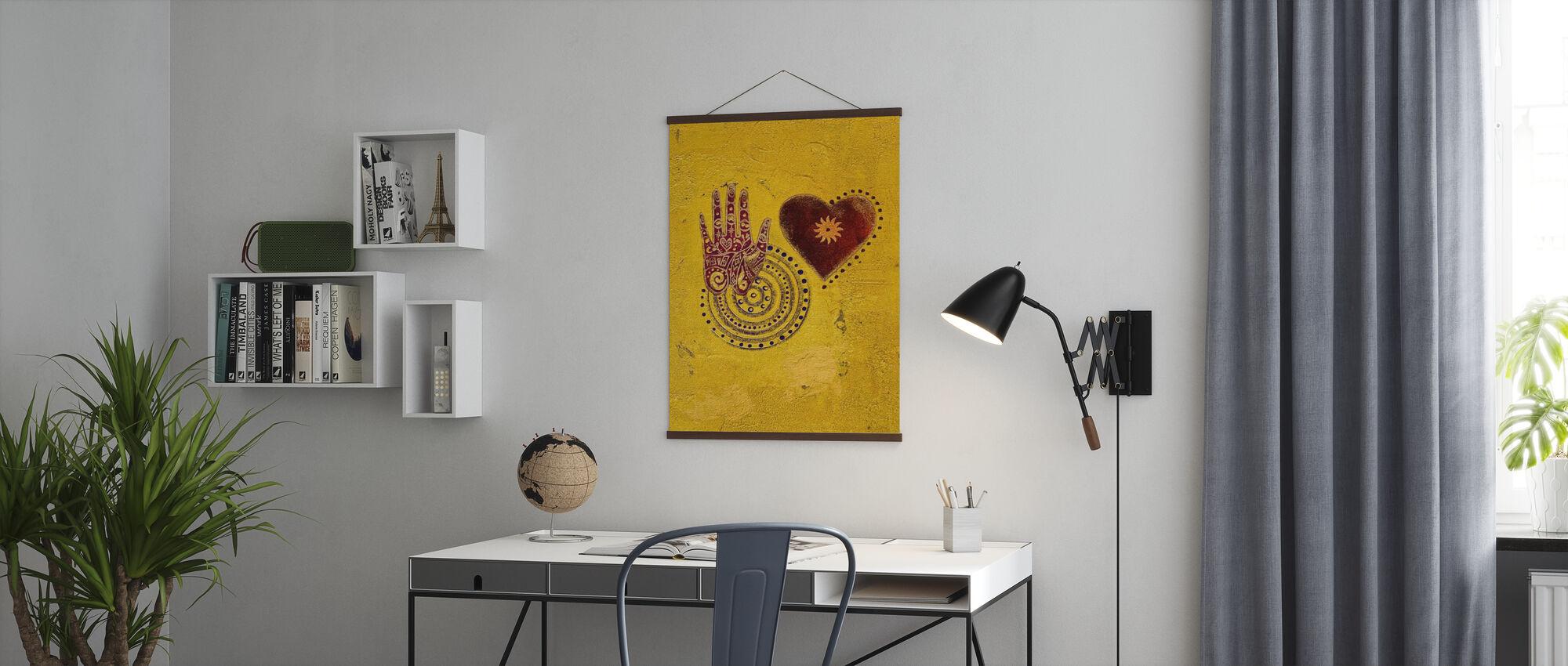 Hart en Hand Schilderen - Poster - Kantoor