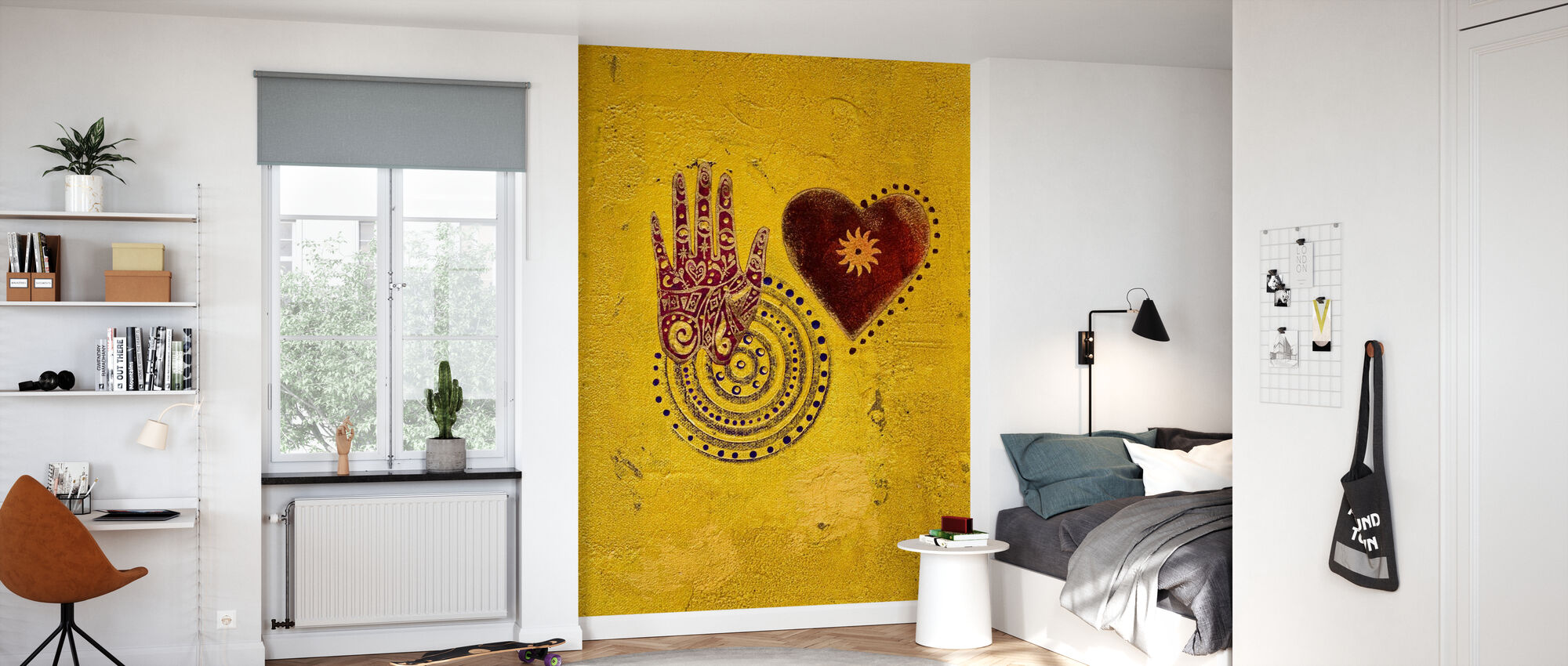 Hjerte og håndmaleri - Tapet - Barnerom