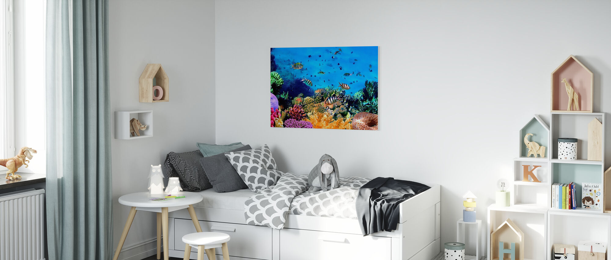 Coral Reef at Koh Cahg Island - Canvas print - Kids Room