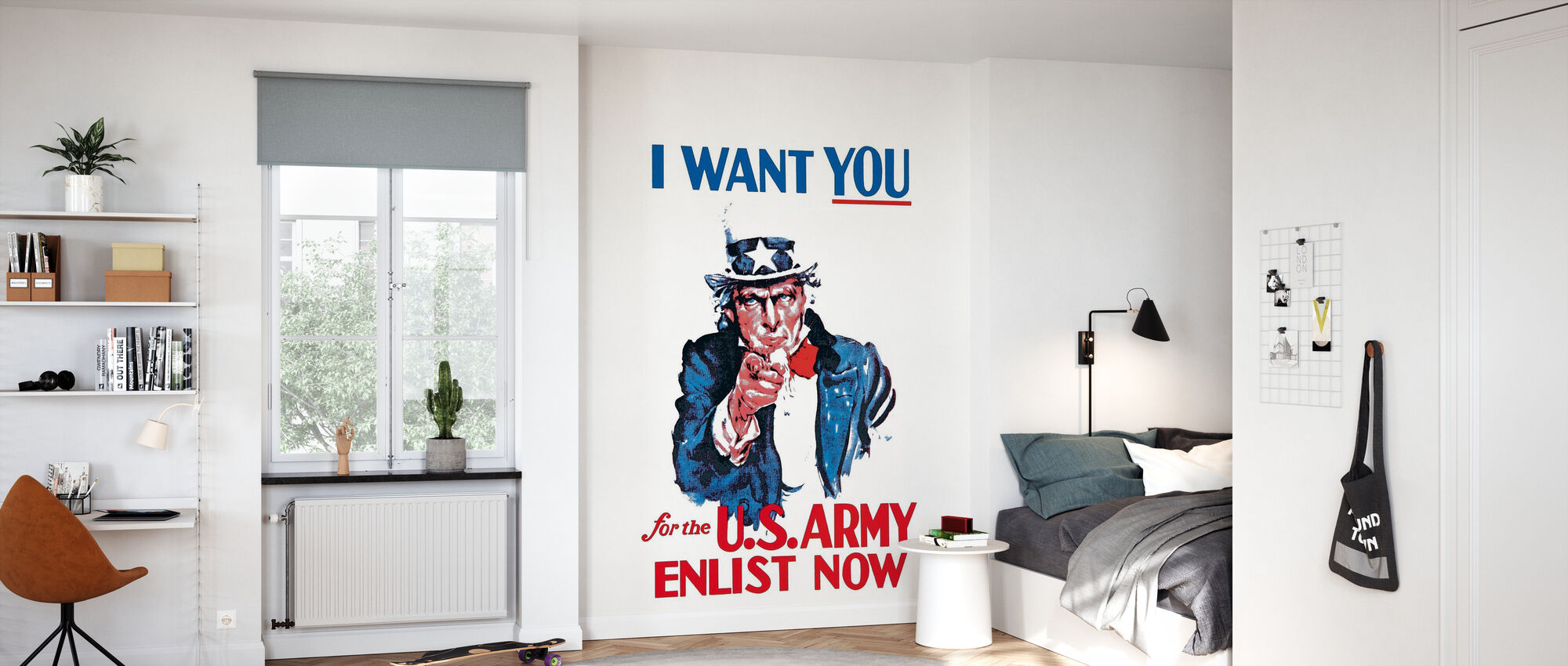 Uncle Sam Enlist Now - Wallpaper - Kids Room