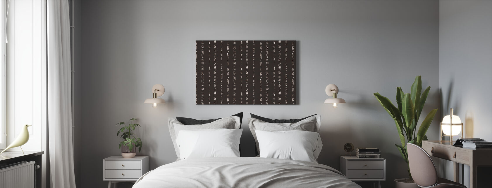 Studio Rita   Julia Heurling - Dietro gli alberi - Scuro - Stampa su tela - Camera da letto