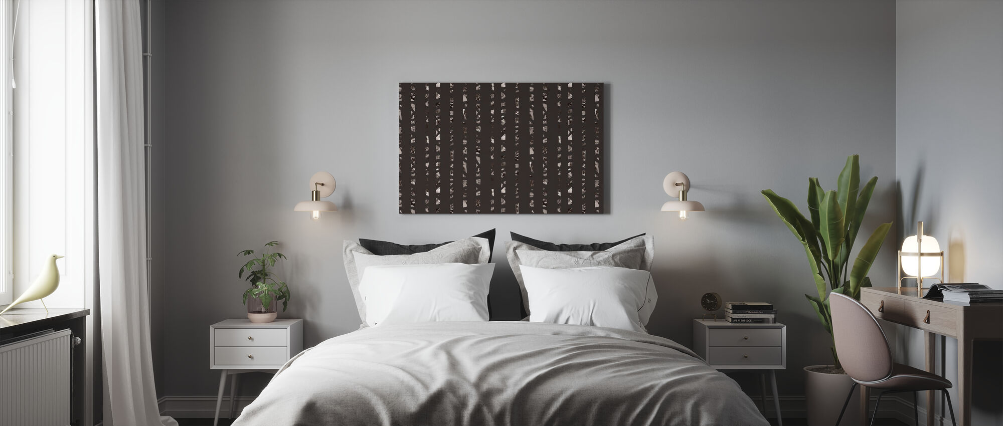 Studio Rita | Julia Heurling - Achter bomen - Donker - Canvas print - Slaapkamer