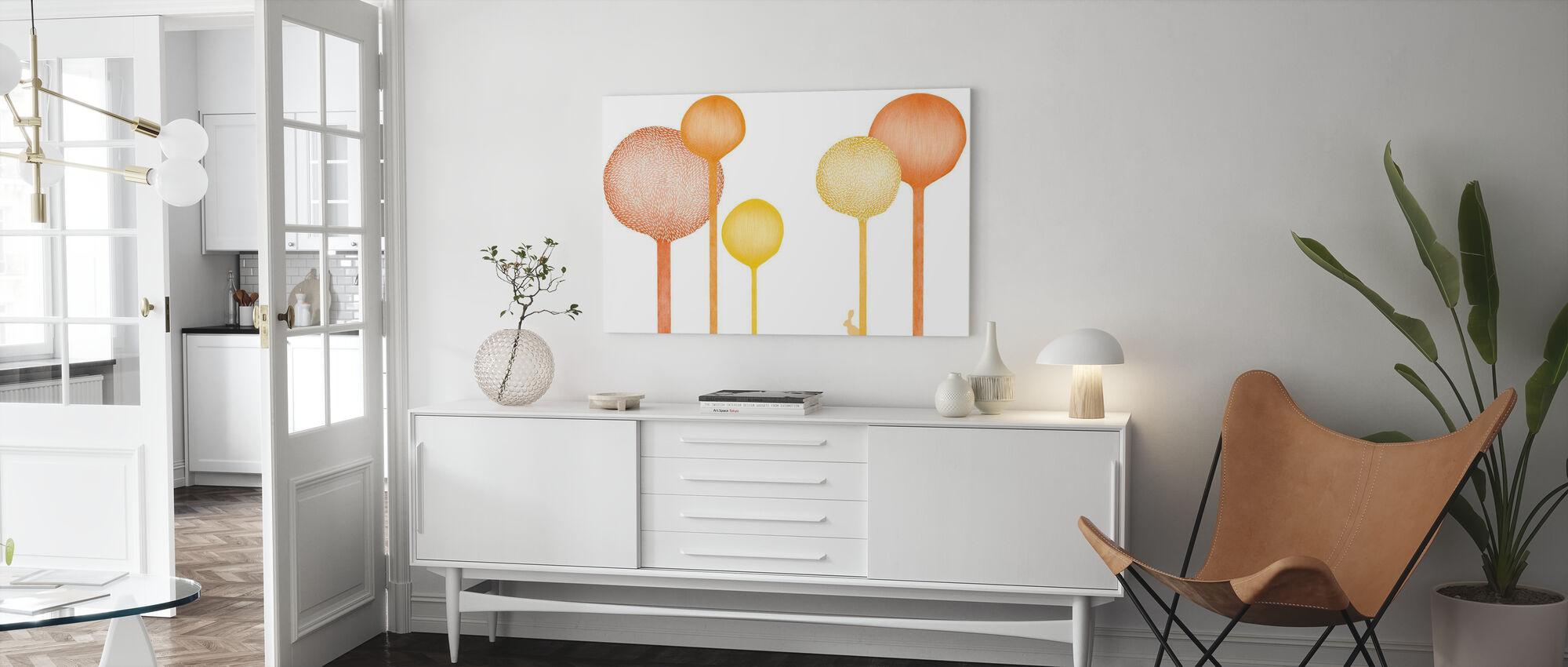 Studio Rita | Elin Öhrling - Forestscape - Orange - Canvas print - Living Room