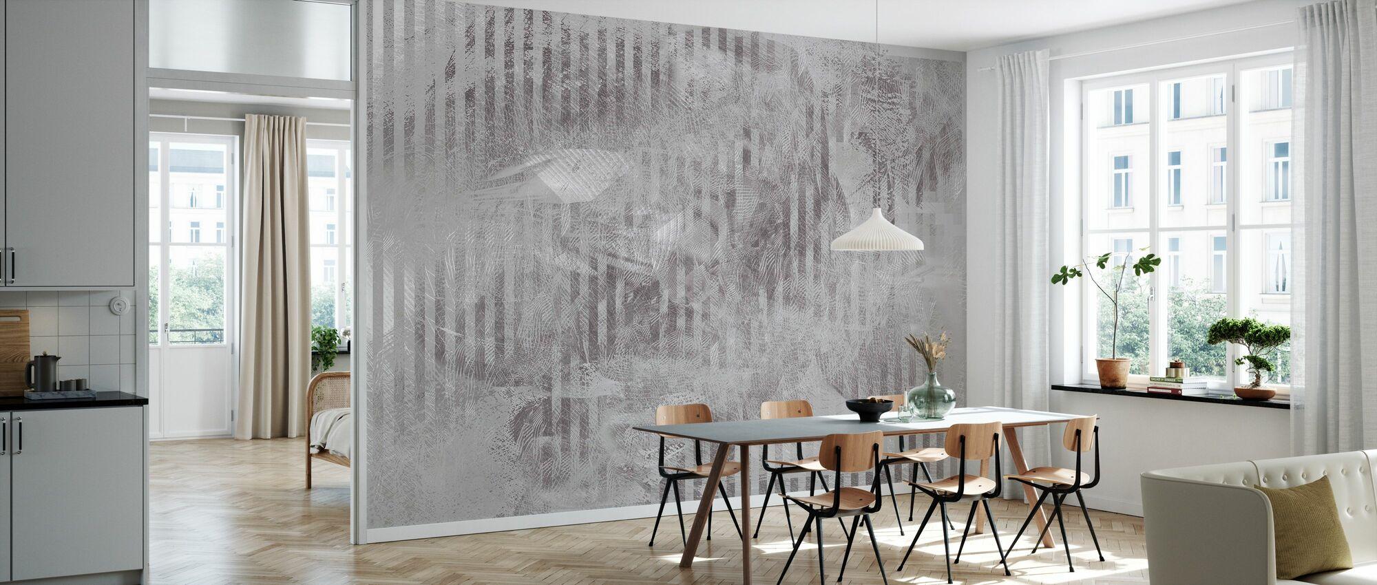Spiegelreflexion - Graphit - Tapete - Küchen
