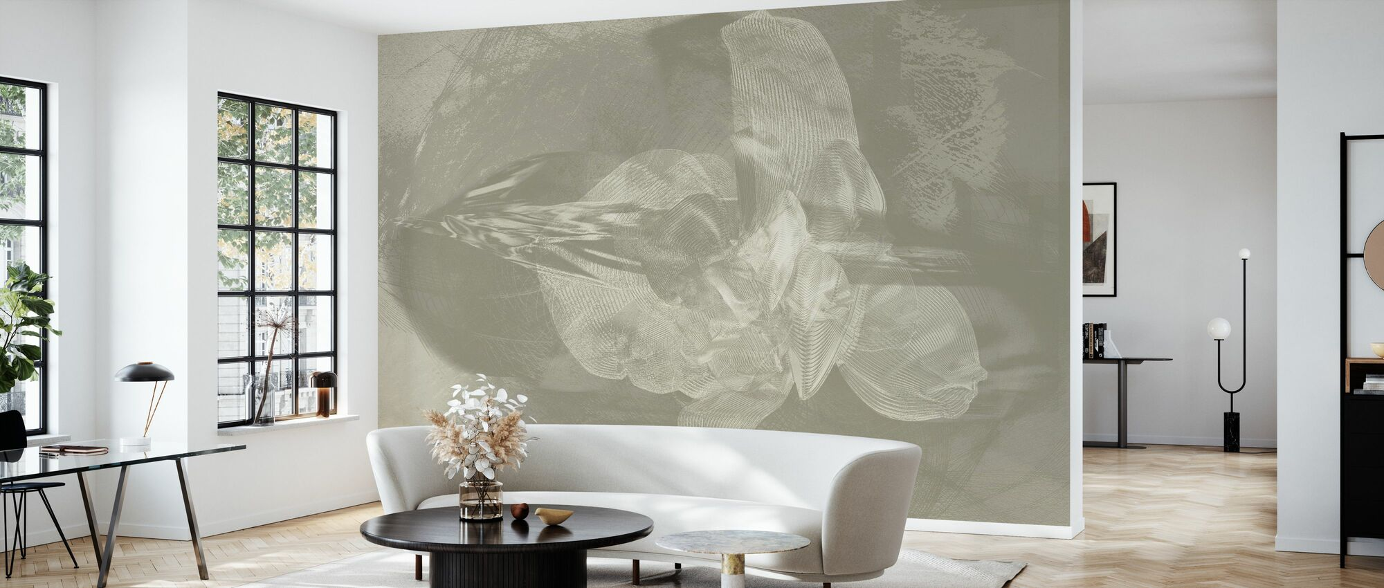 Orchidee Chaos - Tritone - Behang - Woonkamer