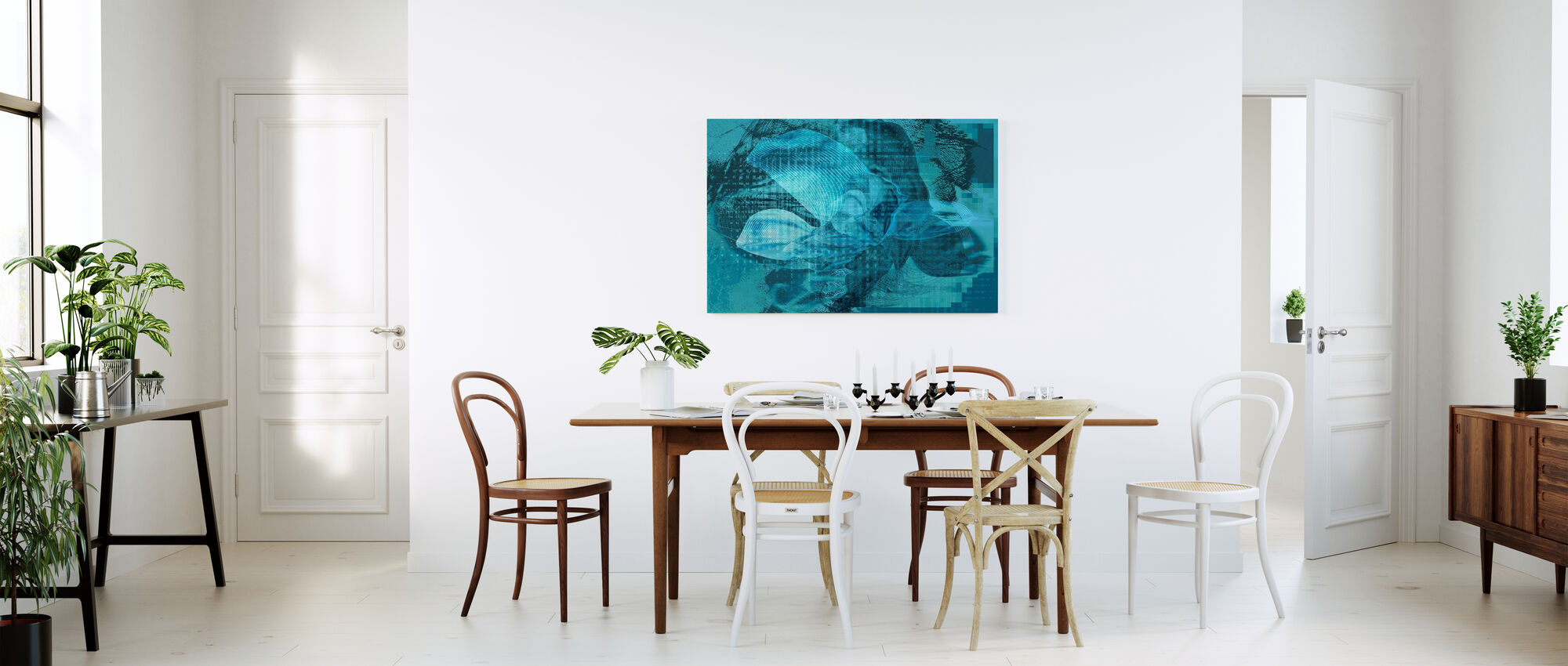 Orchid Chaos - Blue Green - Canvas print - Kitchen