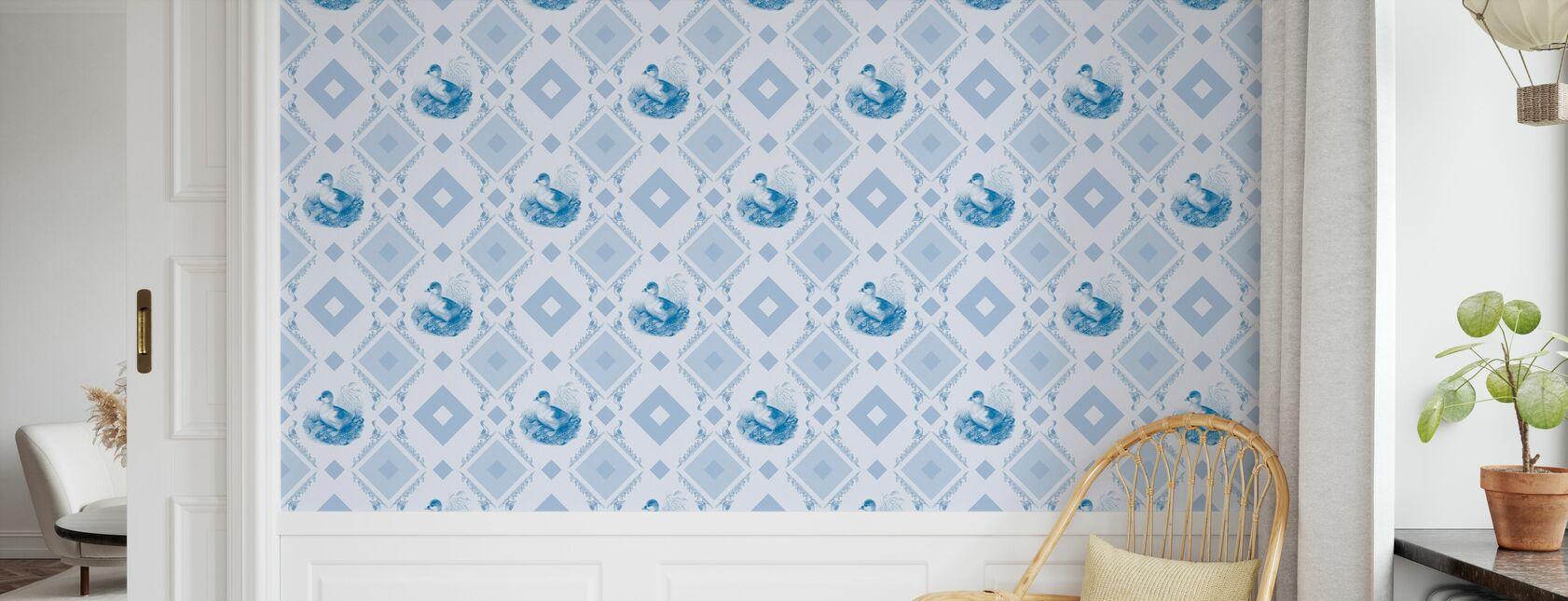 Cadre à gooseframe Ducklin - Bleu clair - Papier peint - Chambre des enfants