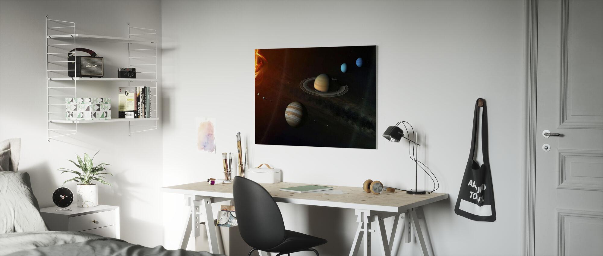 Solar System - Canvas print - Kids Room