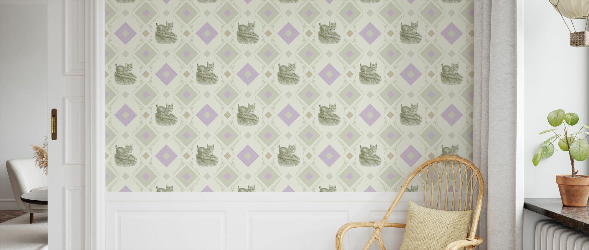 Lynx - Cadre à gooseframe - Vert Violet - Papier peint - Chambre des enfants