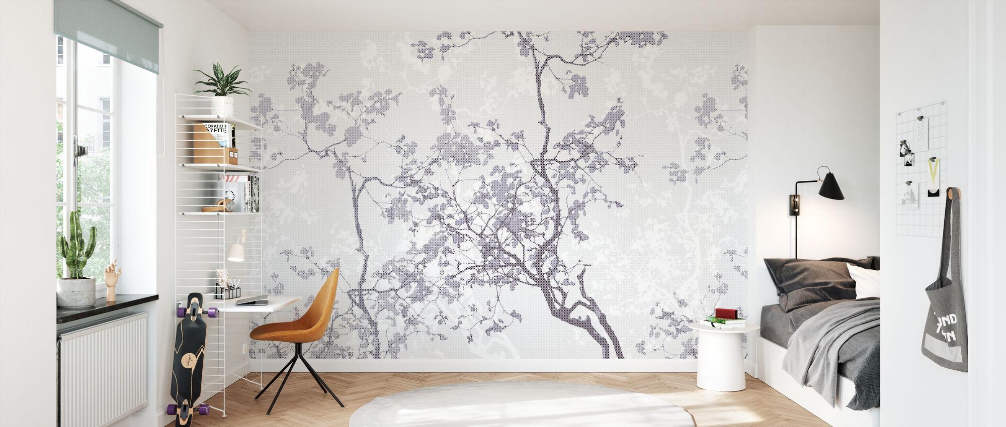 Memory - Purple - Wallpaper - Kids Room