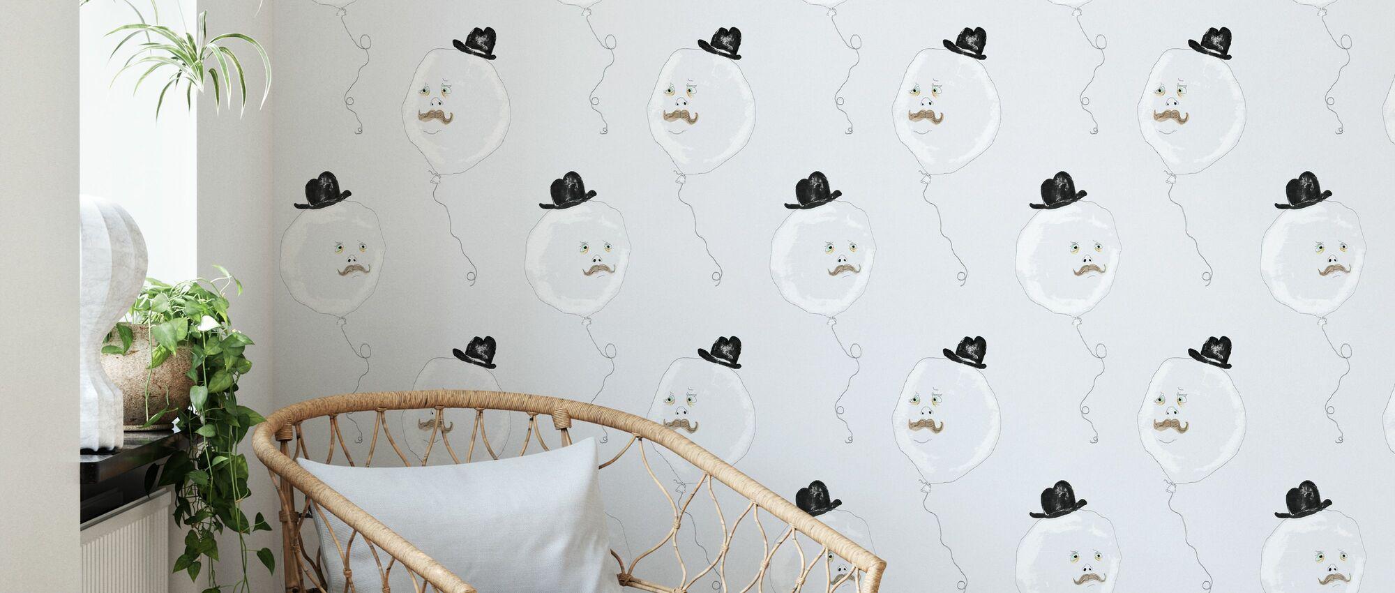 Monsieur Ballon - Wallpaper - Living Room