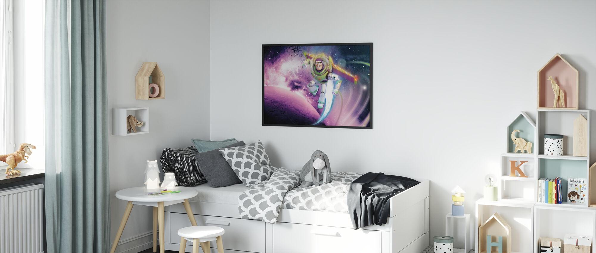 Toy Story - Space - Innrammet bilde - Barnerom