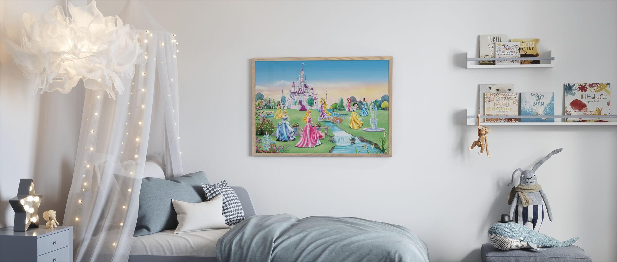 Prinsesse - Slott - Barn Bakgrunn - Innrammet bilde - Barnerom