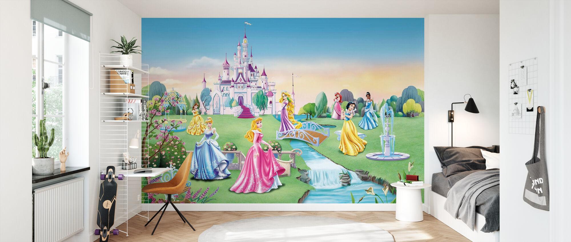 Prinsessan - Slott - Barn Bakgrund - Tapet - Barnrum
