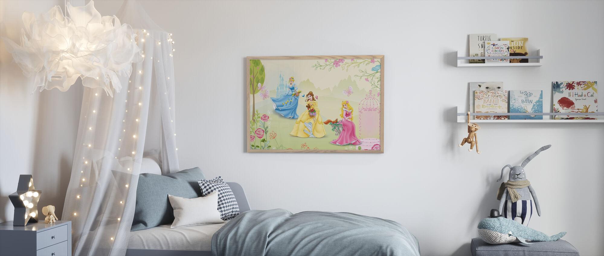 Prinsesse - Rose Garden - Innrammet bilde - Barnerom