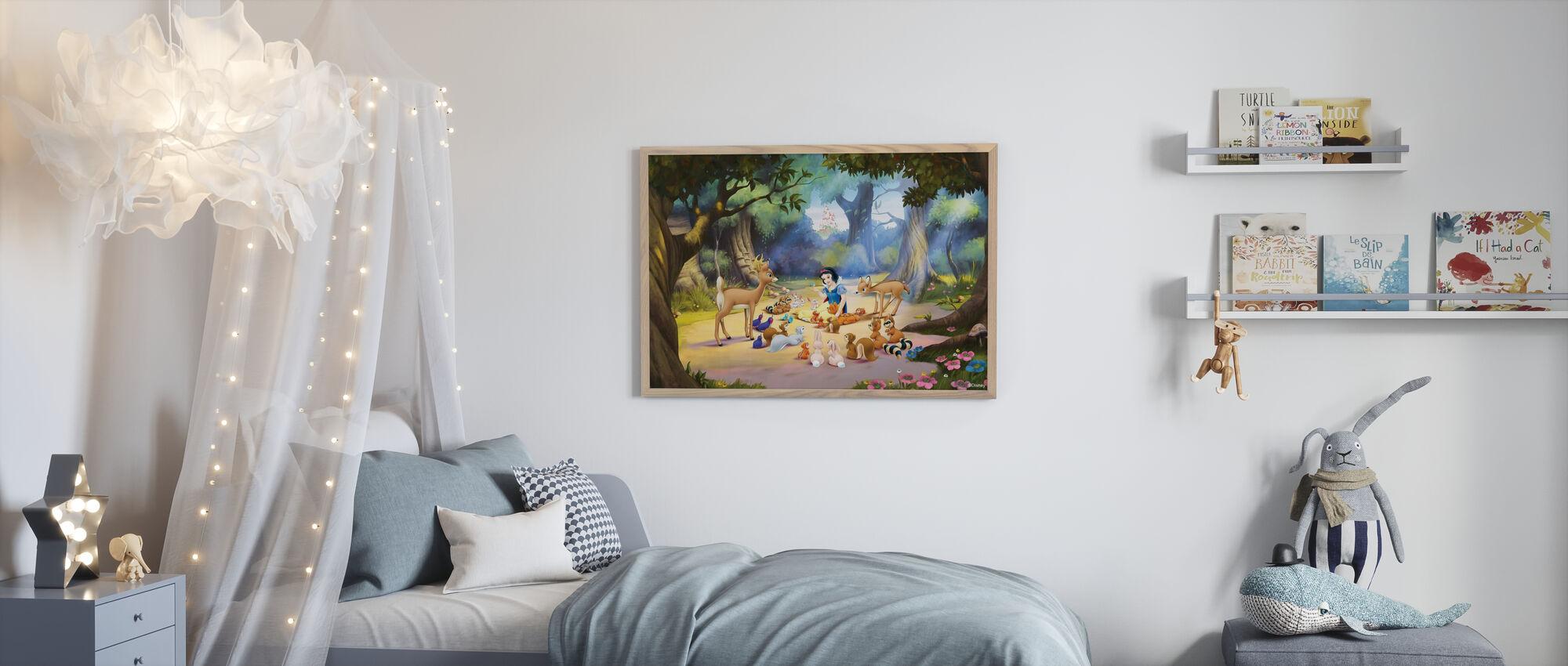 Prinsesse - Snøhvit - Innrammet bilde - Barnerom