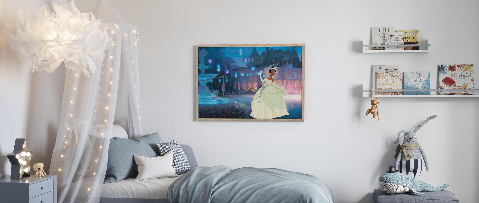 Prinsesse - Tiana - Innrammet bilde - Barnerom