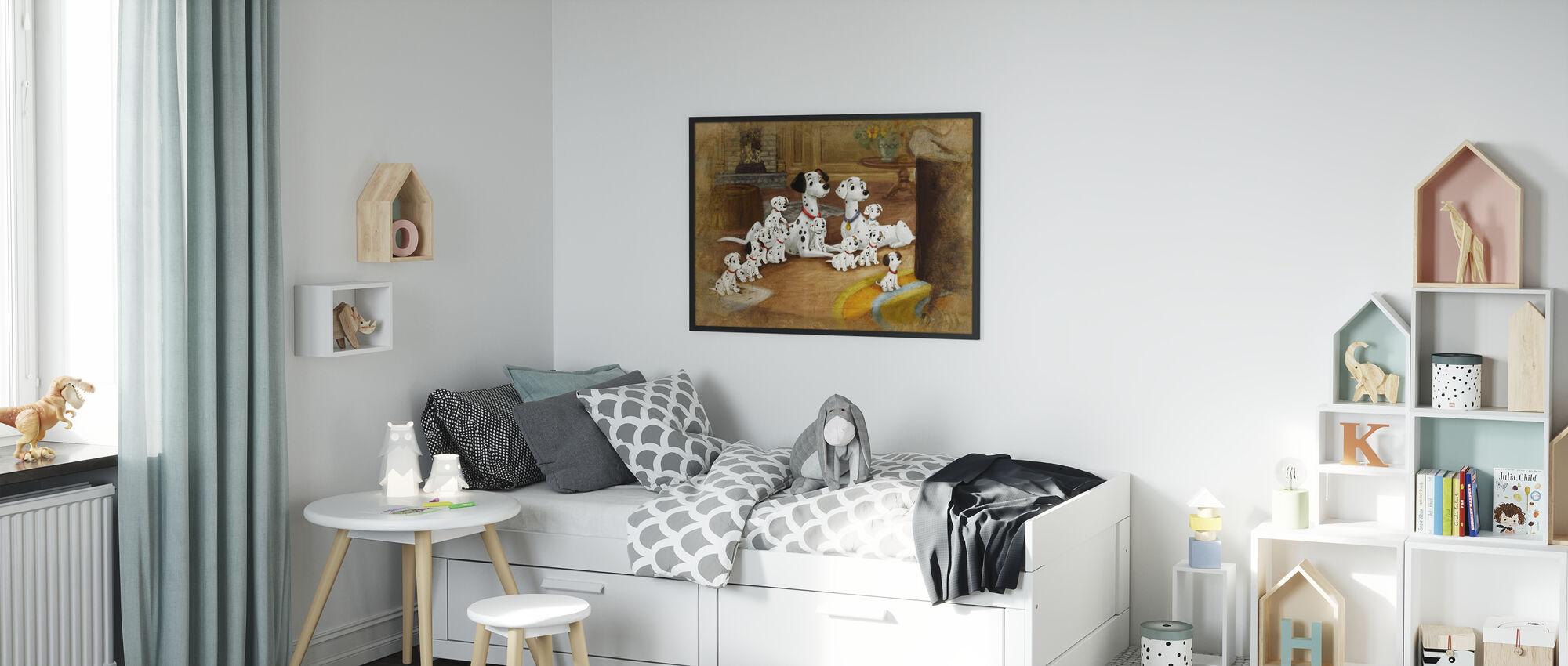 Disney-klassikere - 101 dalmatinere - Innrammet bilde - Barnerom