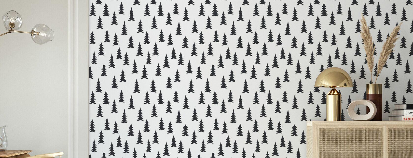 Gran - White - Wallpaper - Living Room