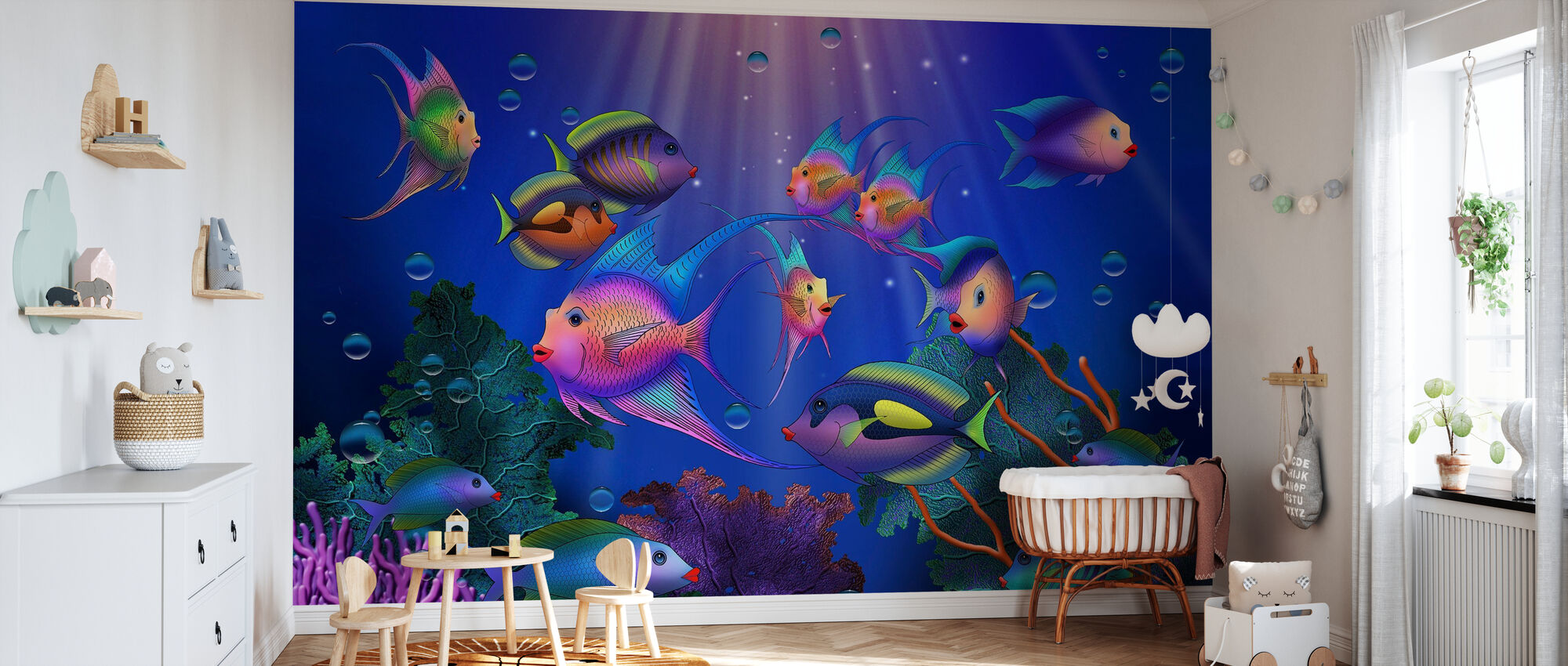 Fantasy Fish III - Wallpaper - Nursery
