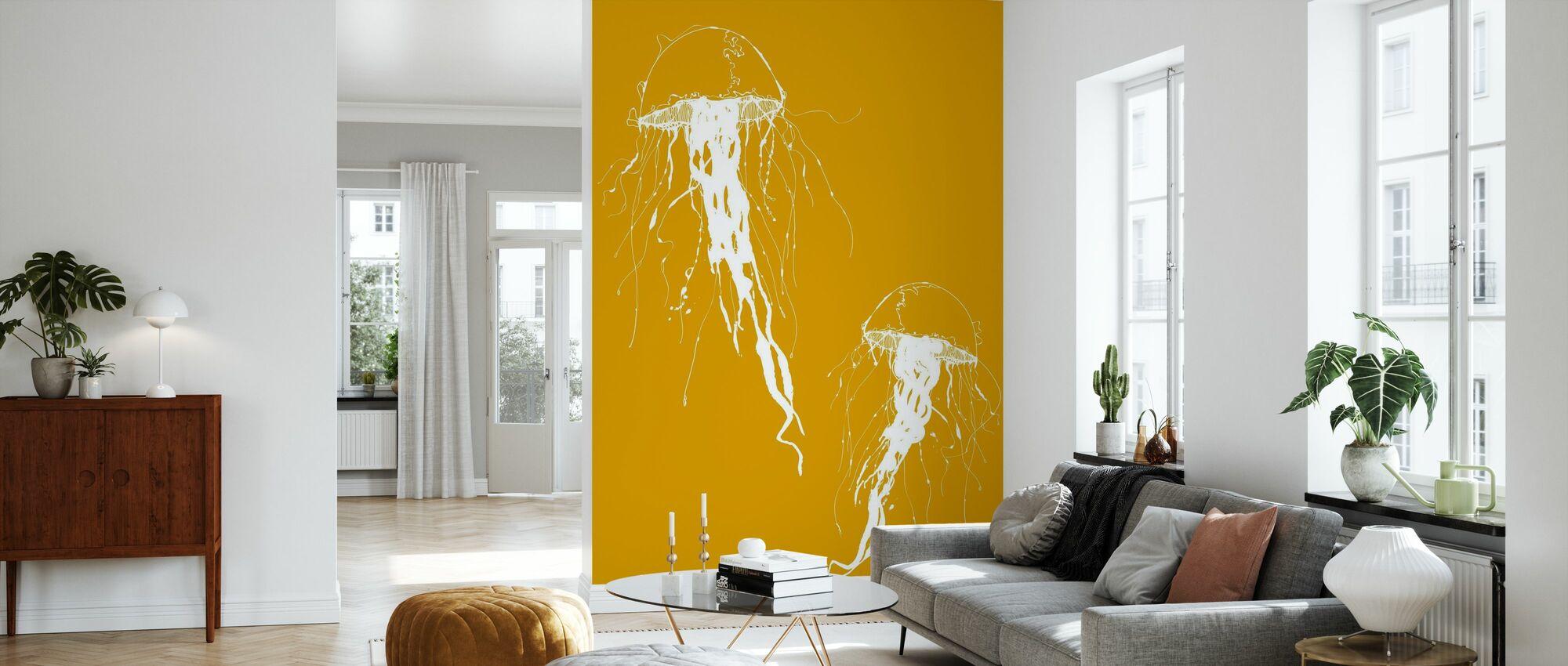 Jellywho - Orange - Tapet - Vardagsrum