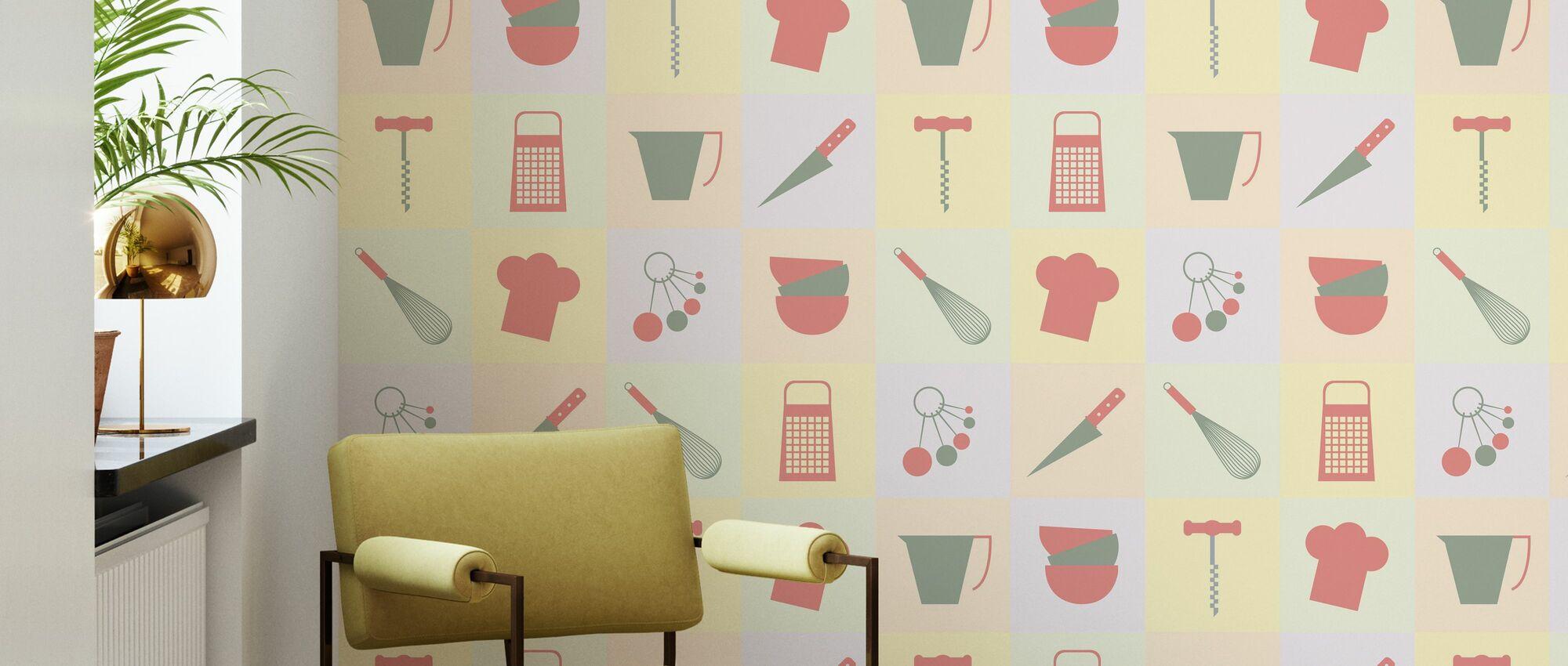 Dalston Küche - Tapete - Wohnzimmer