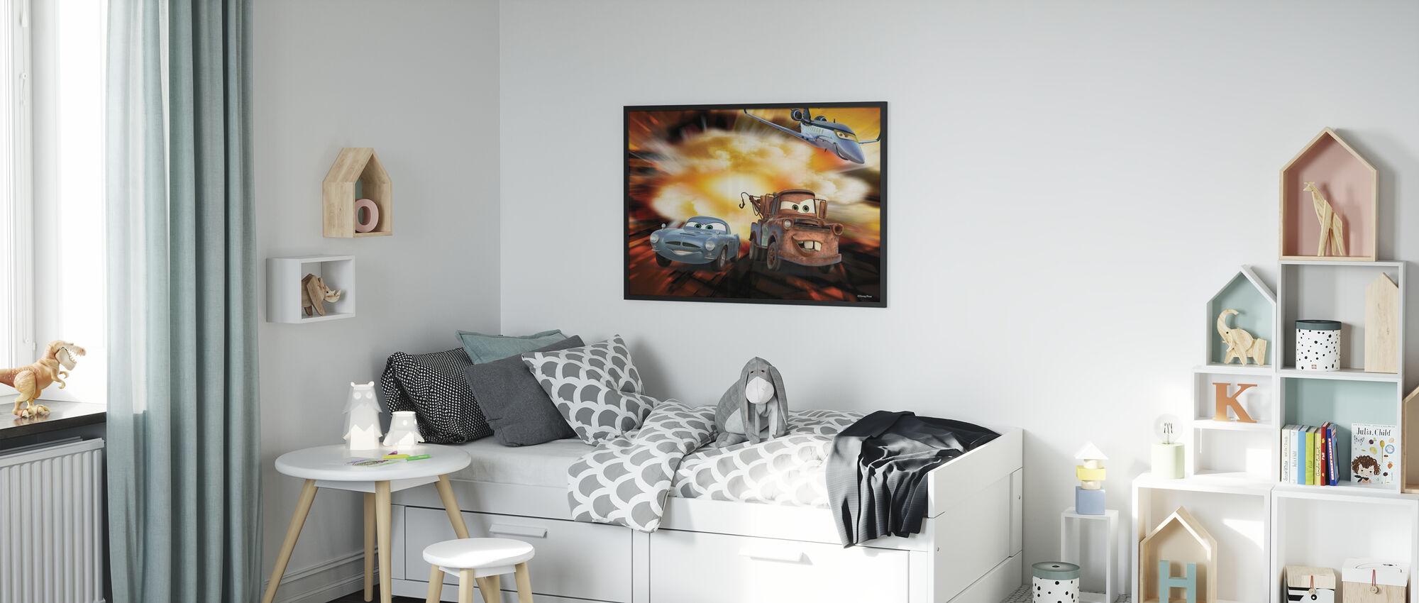 Biler - McQueen, Siddeley og Mater bombe - Innrammet bilde - Barnerom