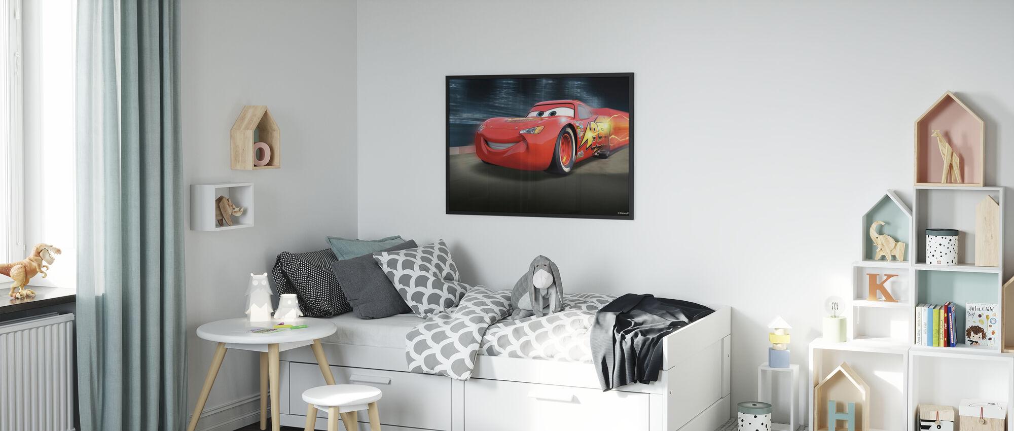 Biler - Racerbane McQueen - Innrammet bilde - Barnerom