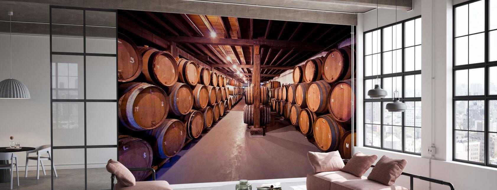 Oude Wijnvaten - Behang - Kantoor