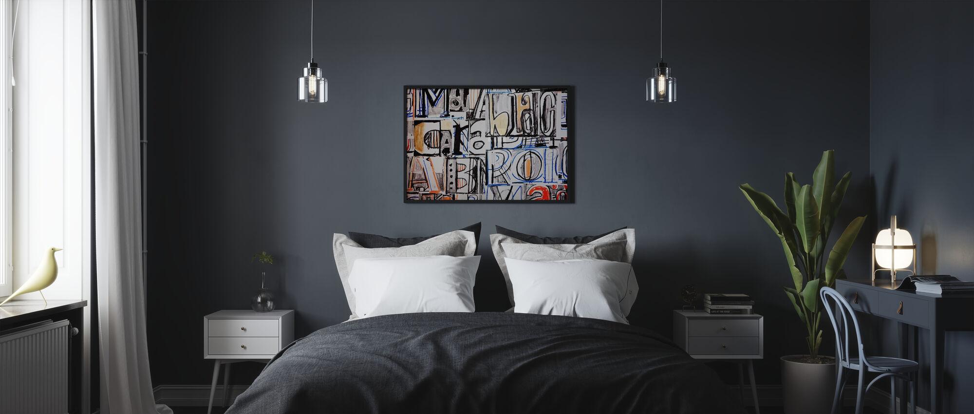 Carattere funky: lettera graffiti - Poster - Camera da letto