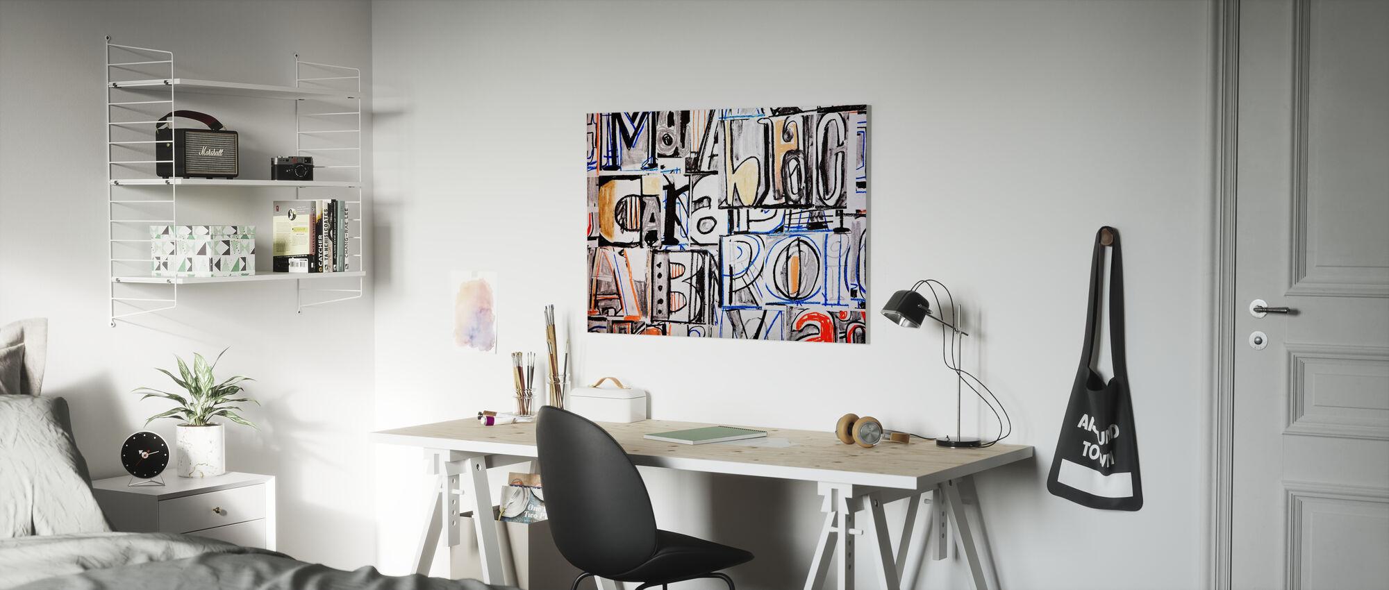 Funky Letter Graffiti - Canvas print - Kids Room