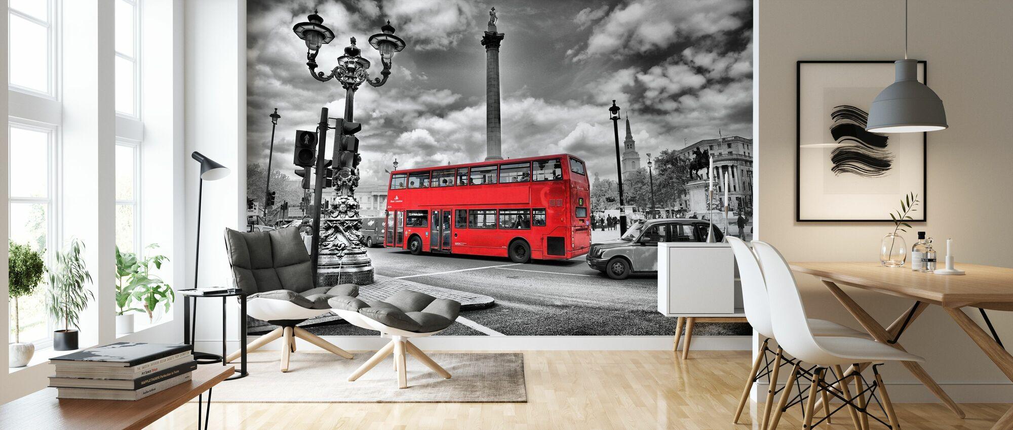 London buss - Colorsplash - Tapet - Stue