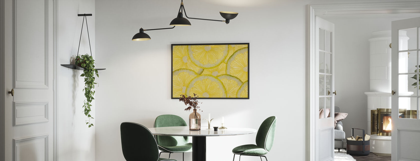 Sliced Lemons - Framed print - Kitchen