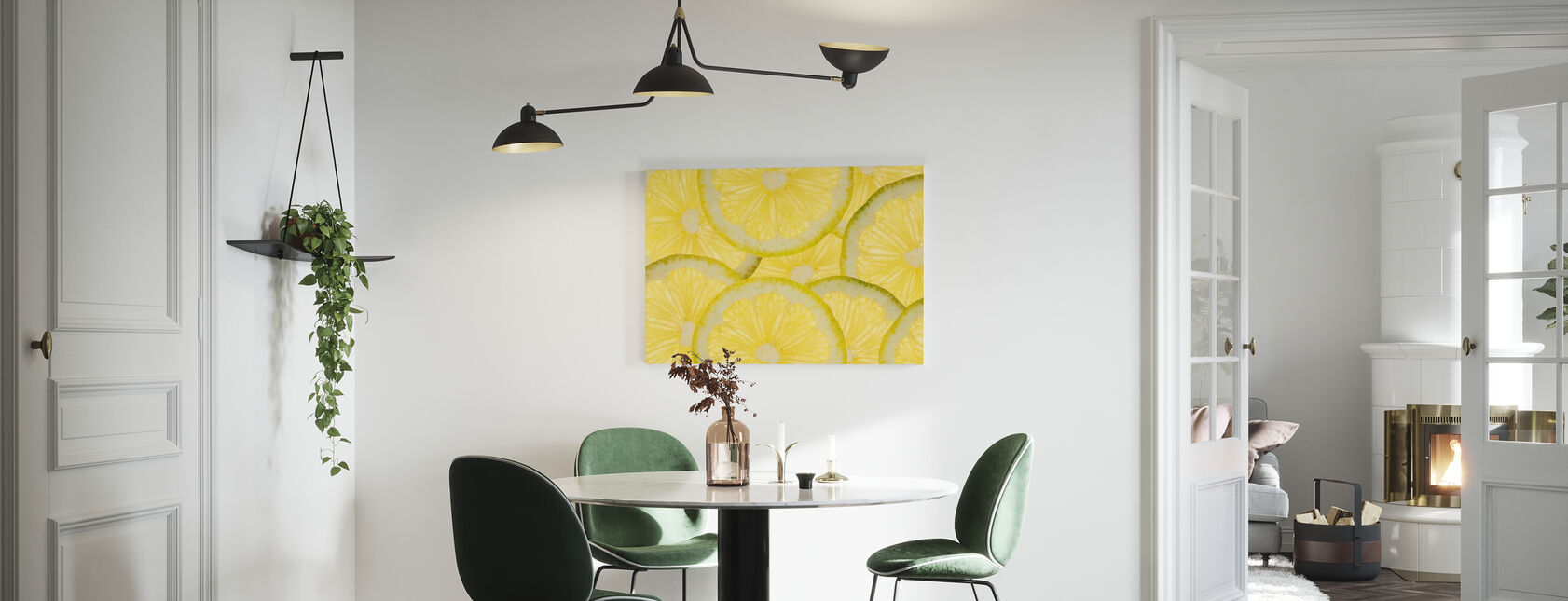 Geschnittene Zitronen - Leinwandbild - Küchen