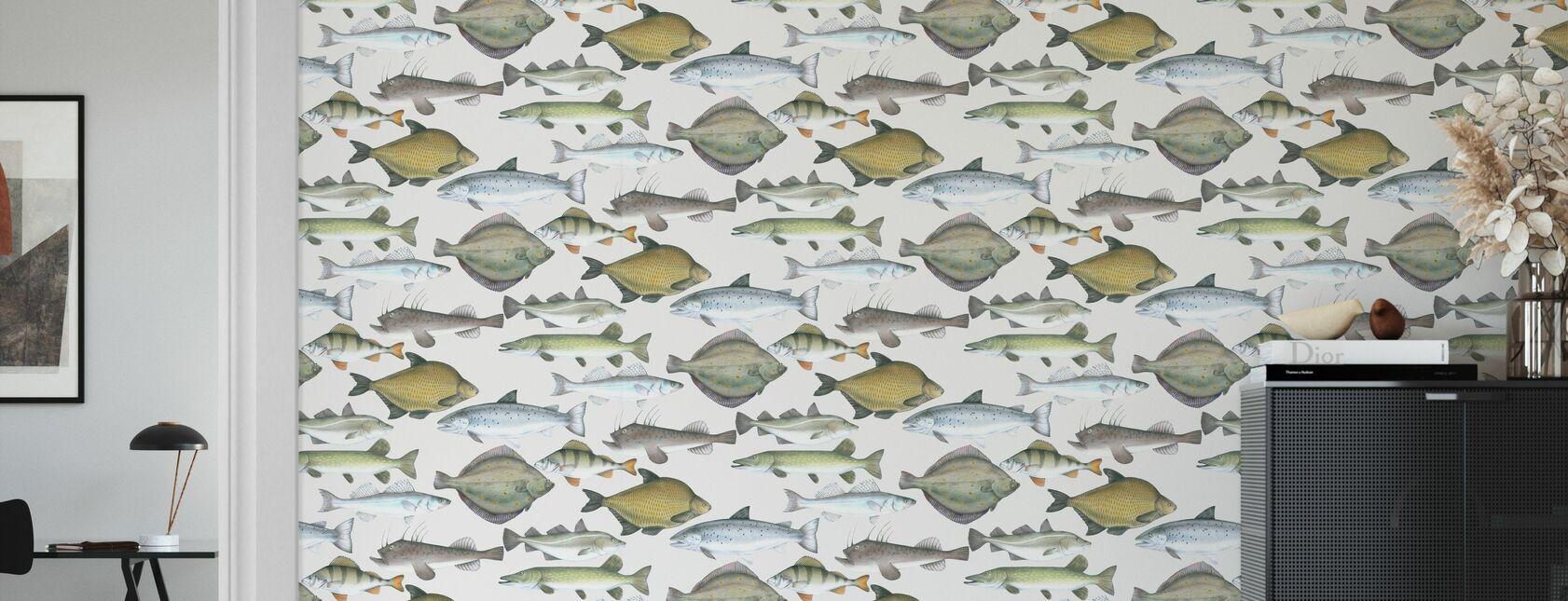 Fisk Mönster - Tapet - Vardagsrum